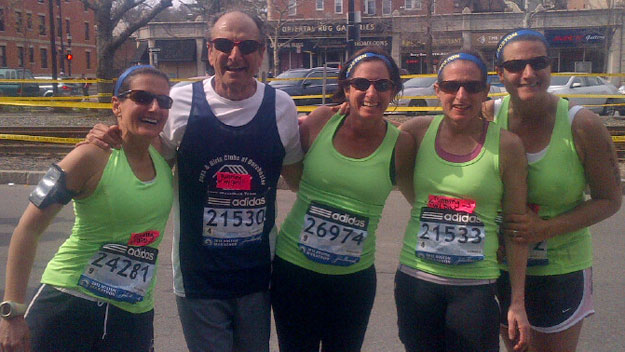 Father Running Boston Marathon With Four Daughters
